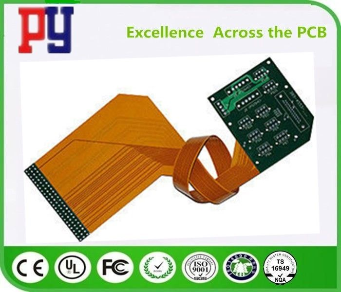 Double Sided Rigid Flex PCB Immersion Gold 3/3 MIL Line Width / Spacing High Performance