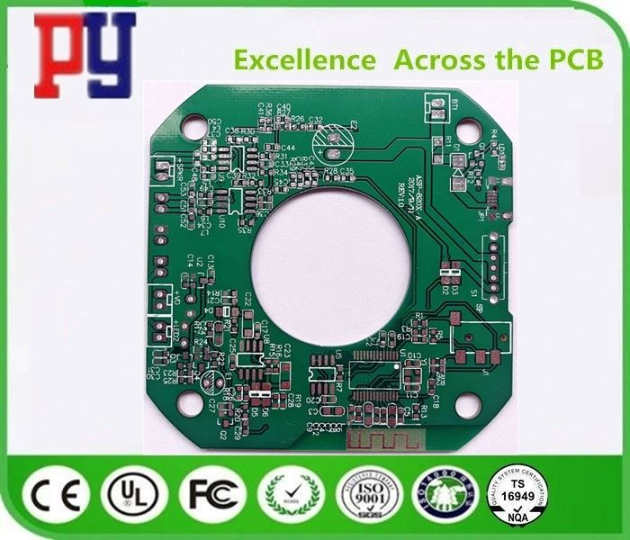 Fr4 Double Sided Printed Circuit Board 1.6MM Thickness 1.0oz Green Solder Mask