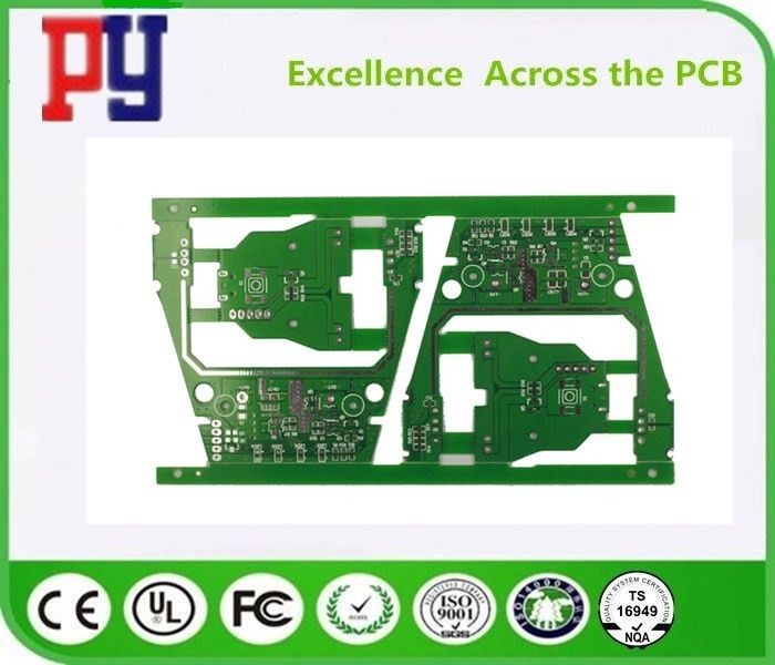 Green Solder Mask Color Double Sided PCB Board 2 Layer 1~3 Oz Copper Thickness
